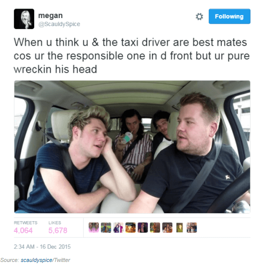 Irish driving tweet