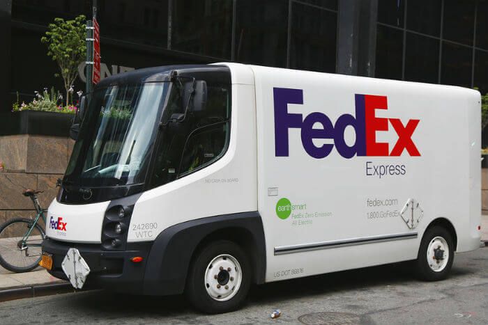 fed ex electric van