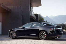 Parked Model S