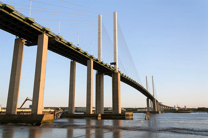 Dartford Crossing on the M25 - Queen Elizabeth II Bridge