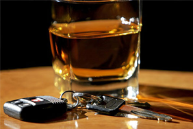 Drink and car keys