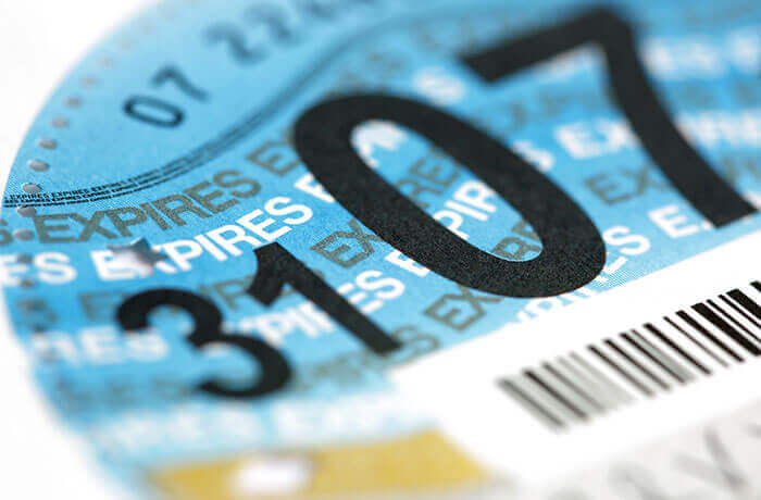 Old road tax disc