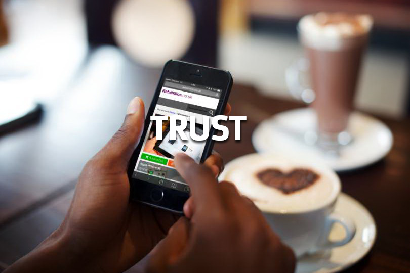 Trust - using a mobile banking app