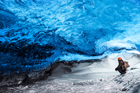 Iceland ice cave