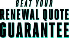 Beat your renewal guarantee logo