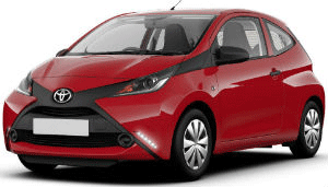 Toyota Aygo Red car