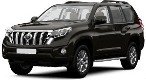 Toyota Land Cruiser Black car