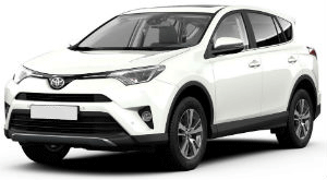Toyota RAV4 White car