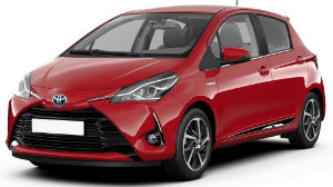 Toyota Yaris Red car